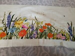 Floral Hand Woven / Embroidered Tapestry Wall Hanging art22x42