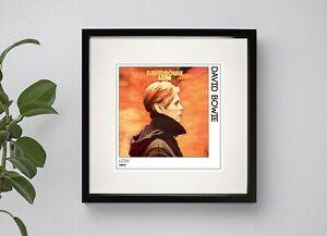 DAVID BOWIE - LOW    BOX FRAMED PRINT    ARTWORK POSTER  3 Sizes Black or White