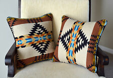 Pillow Covers Cases Southwestern home decor handcrafted of Pendleton Wool fabric