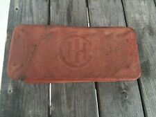 Old Vintage Ihc Wood Bottom Tool Box Ih Logo