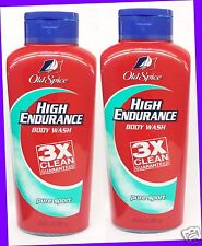2 Old Spice High Endurance PURE SPORT Body Wash 3X CLEAN Shower Gel 23.6 oz ea
