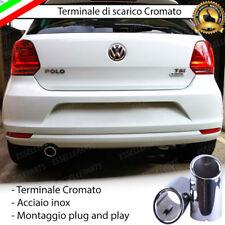 TERMINALE DI SCARICO SINGOLO PER MARMITTA TONDO CROMATO INOX VW POLO 6C 6R