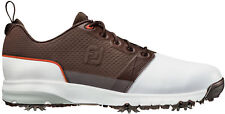 FootJoy Contour Fit Golf Shoes 54096 White/Brown New - Choose Size!