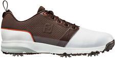Footjoy Contorno de ajuste de Golf Zapatos 54096 Blanco/Marrón Nuevo-Elige Talla!