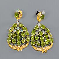 Peridot Earrings Silver 925 Sterling Handmade SET  /E42101