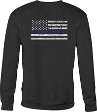 Police Crewneck Sweatshirt Thin Blue Line Flag shirt for Men or Women