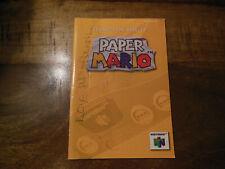 Paper Mario 64 Original Manual Only* (Nintendo 64 / N64)