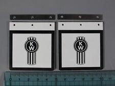 "King Grand Hauler Mud Flap Guard Mount Plate ""KW"" logo Tamiya RC 1/14 Semi Truck"