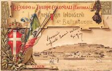 C3232) R. CORPO TRUPPE COLONIALI ERITREA 4 BATTAGLIONE KEREN VIAGGIATA 1905.