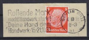 Dr Mi No. 517 With Ws Berlin Rolling Mark Makes Crafts Strong 1936 Letter Piece