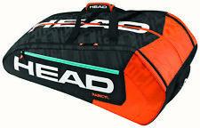 Head Radical MonsterCombi 12 racquet racket tennis bag - Grey/Orange - Reg $125