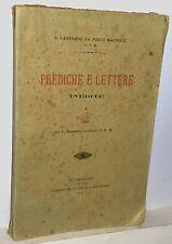 S.Leonardo Da Porto Maurizio Prediche e Lettere inedite 1915