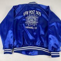 Vintage 80's Nemesis Sportswear Veterans of Foreign Wars Satin Jacket Men's L