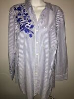 New 1X Talbots Floral Embroidered Top #4314B*7FreeShipping