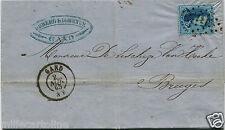BELGIQUE BELGIEN, MAIL, ANNUL GAND 1865, STAMP 20C VINGT CENT      m