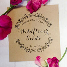 10x Personalised Wedding Favour Envelopes with Wildflower Seeds