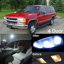 18Pcs White LED Lights Interior Package Kit For 1992-1999 4 door Tahoe/Yukon