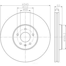 Hella-PAGID 355123112 Front Disc Brake Rotor