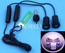 2 X Car Door Cree Led Welcome Laser Projector Logo Ghost Shadow Light For SKULL
