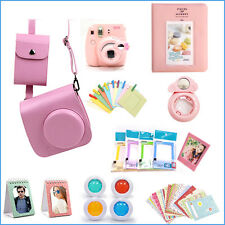 Gmatrix 17 in 1 Fujifilm Instax Mini 8 Case Bag Accessory Bundle Best Gift Pink