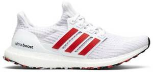 Adidad Ultra Boost White Red Men's Running Shoes #DB3199