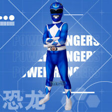 Mighty Morphin Power Rangers ZYURANGER blue blau Cosplay Kostüm Kid Kind