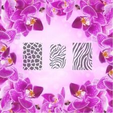 Set: patrón-L, aerógrafo Nail Art Stencil Autoadhesivo diferentes motivos 60 P