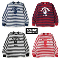 (ONLINE EXCLUSIVE) A BATHING APE COLLEGE HOOP L/S TEE 4colors From Japan New