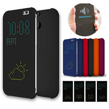 Luxe Dot View Flip Housse Coque Etui Case Cover Protection pour HTC One M8