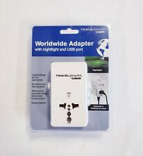 TravelSmart Conair Worldwide Adapter W/ Nightlight & USB Port TS240T