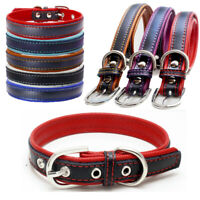 New Personalized Leather Pet Dog Collar for Pet Cat Puppy Adjustable