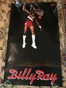 Nike Billy Ray Bates Poster Vintage 1980's Portland Trail Blazers -Original Rare