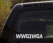Wwg1Wga Decal / Where we go one we go All / q anon qanon Sticker