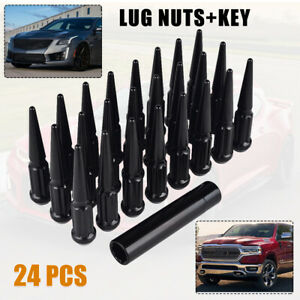 24PCS M14x1.5 Steel Anti-Theft Wheel Rim Lug Nuts For Ram 1500 2012 2013-2017