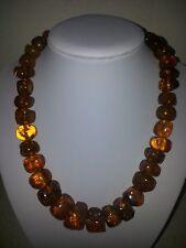 Vintage Antique Old Real Natural Baltic  Amber Necklace
