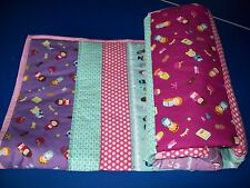 New Handmade Storybook Lane Toddler Bed Girls Baby Blanket or Lap Quilt  Dolls
