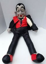 Vintage Folk Art Puff Dracula Vampire Monster American Plush Doll Halloween TALL