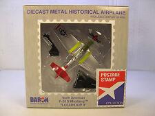 DARON WWII P-51D MUSTANG TUSKEGEE AIRMEN 1:100 SCALE DIECAST DISPLAY MODEL