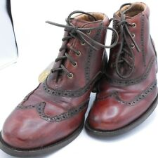 COLE HAAN Men's Brown Leather Wingtip Oxford Chukka Boots Lace Up Brogue 8 M
