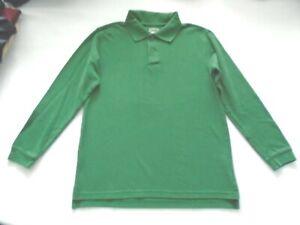 BTS-GEORGE Boys size 10-12 Cute GREEN Polo