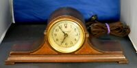 Vintage Working Telechron Camel Back Mantel Electric Clock Model M1 No. 154716A