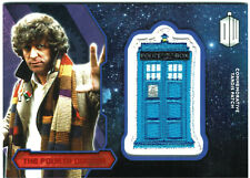 Doctor Who Topps 2015 Tardis Patch Card RED Parallel The Fourth Doctor #13/25