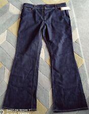 BNWT Ben Sherman Ladies Flared Jeans, dark rinse Denim Size 18, Inside Leg 34