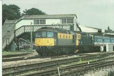 Railway Postcard Class 33s at Yeovil Junction July 1991 Waterloo Exeter NSE