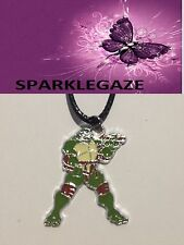 BRAND NEW 2017 TMNT BLACK PENDANT WITH FAUX BLACK NECKLACE 14