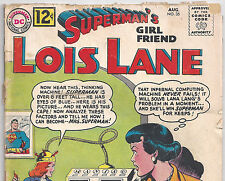 DC Comics Superman's Girlfriend Lois Lane #35 from Aug. 1962 in Good+ condition