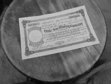 LITTLE SUE MAINE  MINING STOCK CERT, 1880