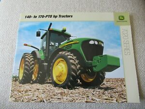 John Deere 7720 7820 7920 7020 series tractor brochure 20 pages