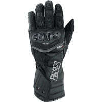 IXS RS-200 Leather Motorcycle Gloves Black Men's