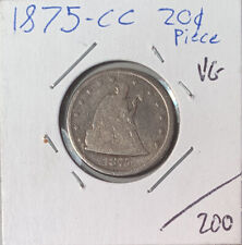 1875-CC 20c Twenty Cent Piece VG Carson City